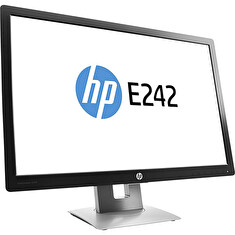 "LCD HP 24"" E242; black/gray, A"